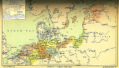 The Extent of the Hansa about 1400