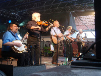 "Folk Band ""The Dubliners"" performing at the international folk festival ""Folk im Schlosshof"" 2010 in Bad Rappenau - Bonfeld, Germany. From left to right: Barney McKenna, John Sheahan, Séan Cannon, Patsy Watchorn, Eamonn Campbell"