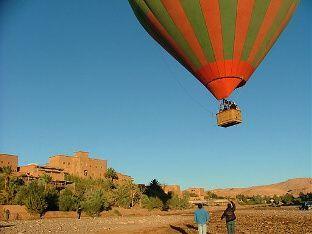 Hot Air Ballooning over Ait Ben Haddou-morocco
