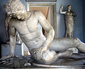 The Dying Gaul, a famous ancient Roman statue