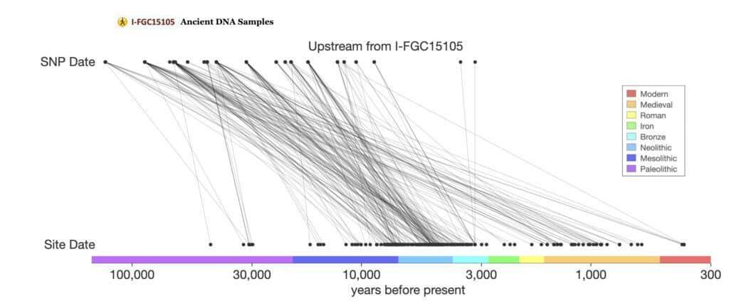 I-FGC15105 Ancient DNA Samples, SNP Tracker Data.