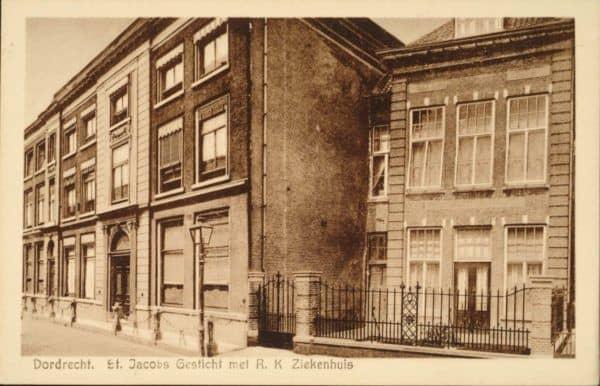 St. Jacobs Gesticht met R.K. Ziekenhuis omstreeks 1916