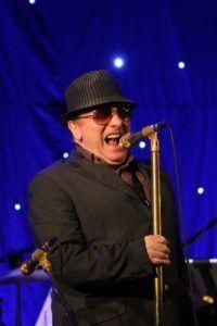 Van Morrison performing in Newcastle, Northern Ireland on August 23, 2015