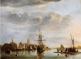 View of Dordrecht, ca. 1655, Aelbert Cuyp, Dutch, 1620-1691, oil on canvas.jpg