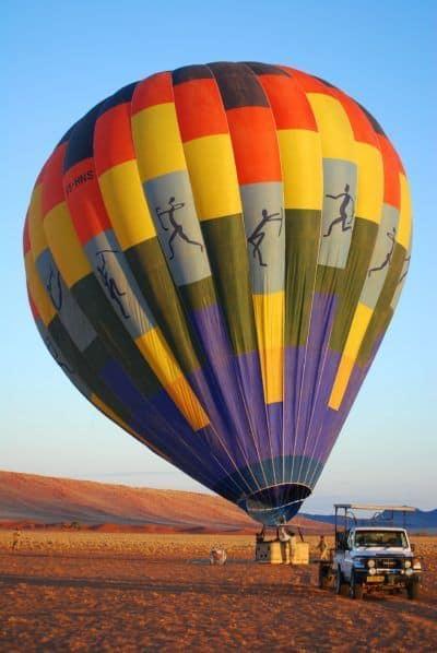 Preparations for a Hot air balloon flight it the Namib desert