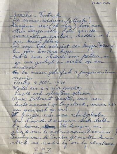 BLAD 1 -Op 11 mei 2004 heeft mijn vader deze aantekeningen gemaakt