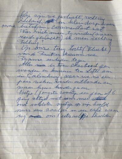BLAD 2 -Op 11 mei 2004 heeft mijn vader deze aantekeningen gemaakt