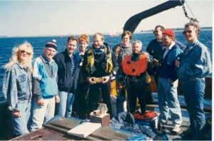 Wreckdive on the Keten 18, 28-05-1989 in the Oosterschelde in Zeeland