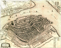 Map Dordrecht 15e century
