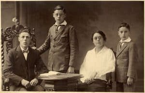 My grandfather (Kees) and grandmother (Anna) and their sons Jan (left) and Adriaan (my father) on the right. The picture was taken around 1927.