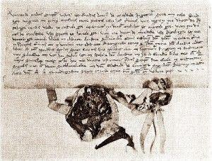 De stichtingsoorkonde van het Jerusalem klooster (origineel SA Antwerpen, België, K122)