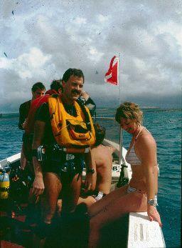 After the dive, me and Hélène